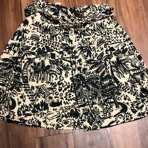 Anthropologie tie waist fit and flare skirt